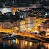 Panorámica De Oporto De Noche