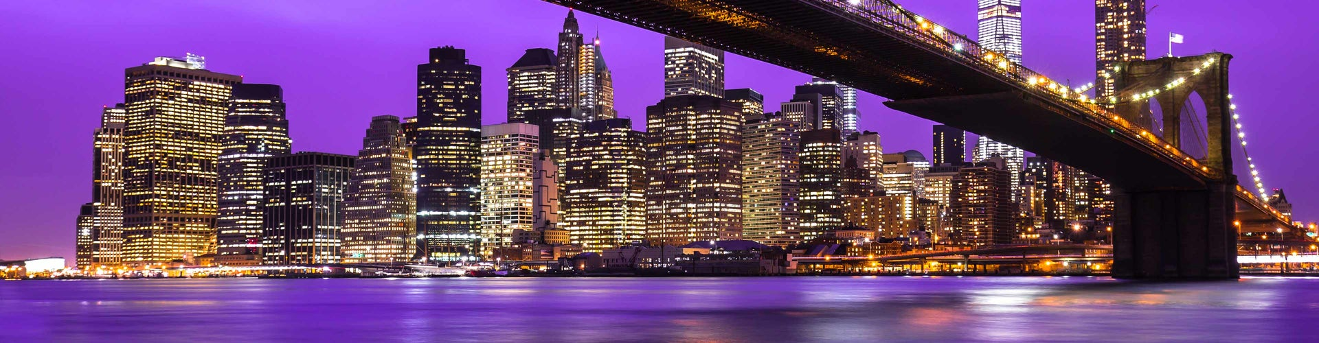 puente de brooklyn nueva york de noche