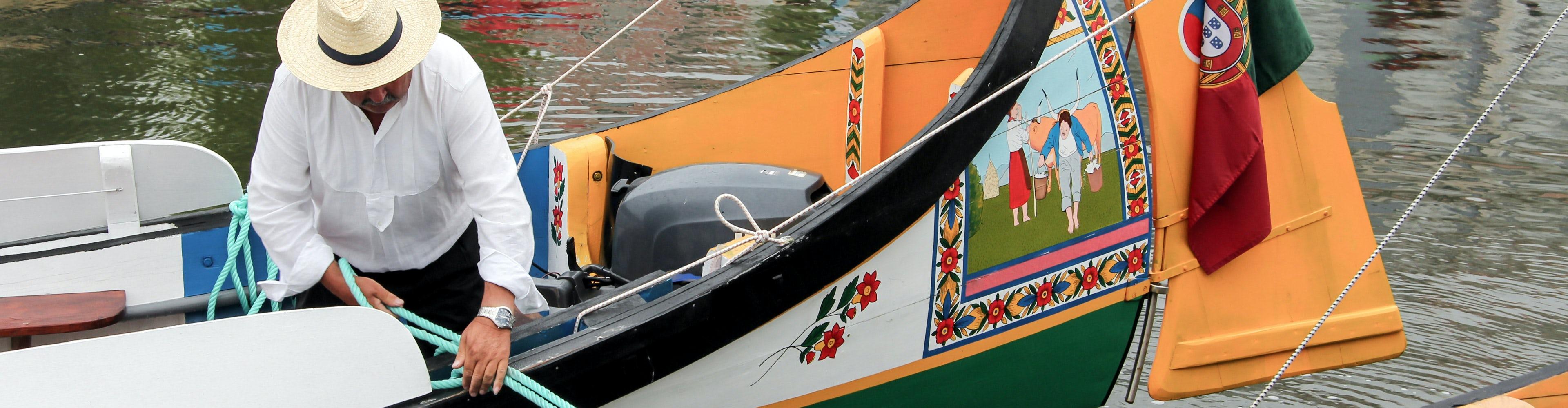 Excursión de medio día por Aveiro y Costa Nova con paseo en barco típico (mañana o tarde)